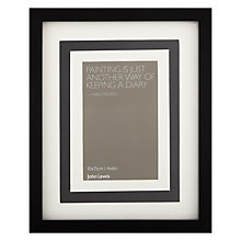 Buy John Lewis Multi-aperture Photo Frame, Black, 3 Photo Online at johnlewis.com