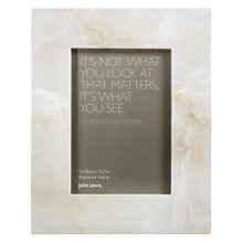 "Buy John Lewis Alabaster Photo Frame, White, 5 x 7"" (13 x 18cm) Online at johnlewis.com"