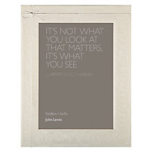"Buy John Lewis Ribbon Photo Frame, Cream, 5 x 7"" (13 x 18cm) Online at johnlewis.com"