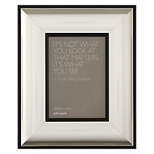 "Buy John Lewis Sloane Photo Frame, Silver, 5 x 7"" (13 x 18cm) Online at johnlewis.com"