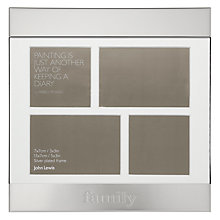 Buy John Lewis Multi-aperture Sentimental Family Photo Frame, Silver, 4 Photo Online at johnlewis.com