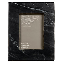 "Buy John Lewis Marble Photo Frame, Black, 4 x 6"" (10 x 15cm) Online at johnlewis.com"