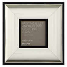 "Buy John Lewis Sloane Photo Frame, Silver, 4 x 4"" (10 x 10cm) Online at johnlewis.com"