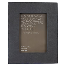 "Buy John Lewis Croft Collection Slate Photo Frame, 5 x 7"" (13 x 18cm) Online at johnlewis.com"