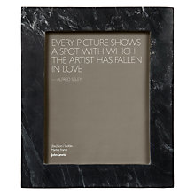 "Buy John Lewis Marble Photo Frame, Black, 8 x 10"" (20 x 25cm) Online at johnlewis.com"
