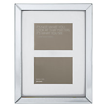"Buy John Lewis Multi-aperture Mirror Photo Frame, 2 Photo, 5 x 7"" (13 x 18cm) Online at johnlewis.com"