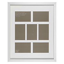 "Buy John Lewis Multi-aperture Frame, Silver, 7 Photo, 4 x 6"" (10 x 15cm) Online at johnlewis.com"
