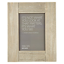 "Buy John Lewis Limed Wood Table Photo Frame, Natural, 5 x 7"" (13 x 18cm) Online at johnlewis.com"