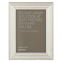 "Buy John Lewis Trevi Table Photo Frame, Ivory, 5 x 7"" (13 x 18cm) Online at johnlewis.com"