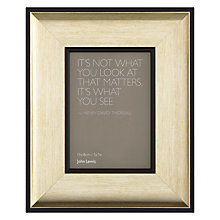 "Buy John Lewis Sloane Photo Frame, Gold, 5 x 7"" (13 x 18cm) Online at johnlewis.com"