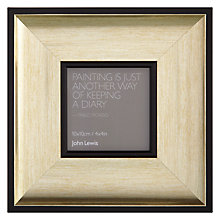 "Buy John Lewis Sloane Photo Frame, Gold, 4 x 4"" (10 x 10cm) Online at johnlewis.com"