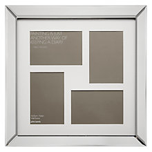 "Buy John Lewis Multi-aperture Mirror Photo Frame, 4 Photo, 4 x 6"" (10 x 15cm) Online at johnlewis.com"
