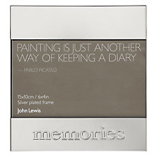 "Buy John Lewis Sentimental Memories Photo Frame, Silver, 4 x 6"" (10 x 15cm) Online at johnlewis.com"