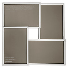 "Buy John Lewis Multi-aperture Photo Frame, Silver, 4 Photo, 4 x 6"" (10 x 15cm) Online at johnlewis.com"