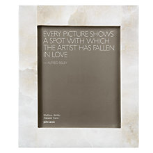 "Buy John Lewis Alabaster Photo Frame, White, 8 x 10"" (20 x 25cm) Online at johnlewis.com"