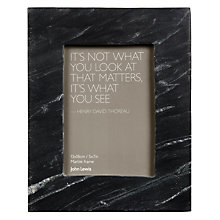 "Buy John Lewis Marble Photo Frame, Black, 5 x 7"" (13 x 18cm) Online at johnlewis.com"