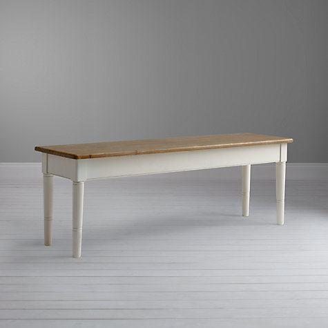 Buy John Lewis Drift 3-Seater Dining Bench, Cream Online at johnlewis.com