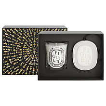 Buy Diptyque Figuier Candle & Oval Gift Set Online at johnlewis.com