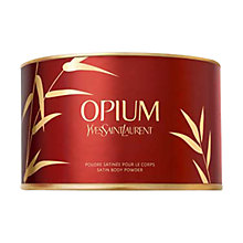 Buy Yves Saint Laurent Opium Satin Body Powder, 100g Online at johnlewis.com