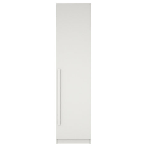 Buy House by John Lewis Mixit Block Handle Single Wardrobe, Gloss White/Matt White Online at johnlewis.com