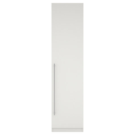 Buy House by John Lewis Mix it T-bar Handle Single Wardrobe, Gloss White/Matt White Online at johnlewis.com