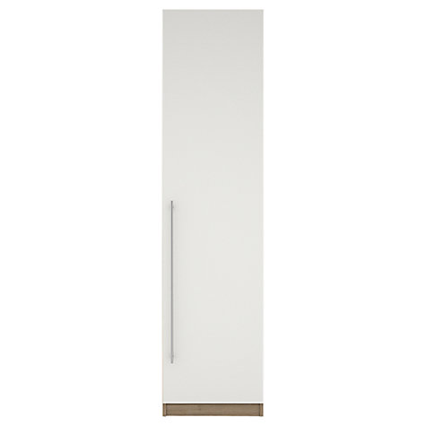 Buy House by John Lewis Mix it T-bar Handle Single Wardrobe, Gloss White/Grey Ash Online at johnlewis.com