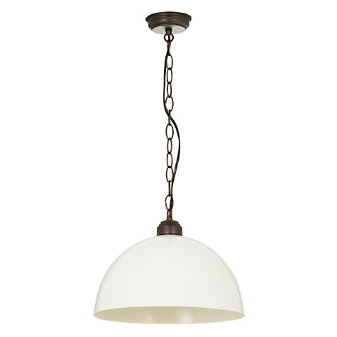 Buy John Lewis Renoir Bronze Pendant, Cream Online at johnlewis.com