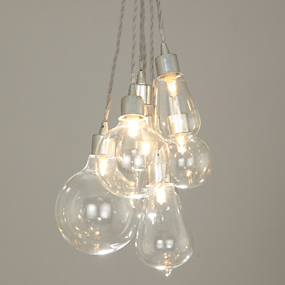 John Lewis Croft Collection Kinsley Glass Dangle Cluster Ceiling Light
