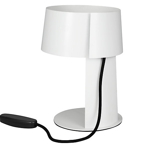 Buy House by John Lewis Cirrus Touch Table Lamp, White Online at johnlewis.com