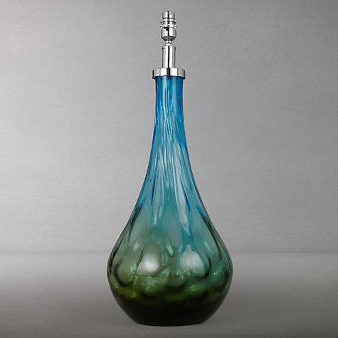 buy john lewis ariel glass lamp base blue green online at johnlewis. Black Bedroom Furniture Sets. Home Design Ideas