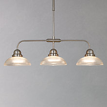 Buy John Lewis George Ribbed Glass Bar Pendant, 3 Light Online at johnlewis.com
