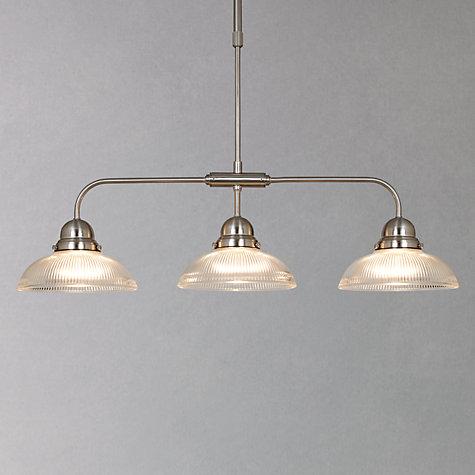 Buy John Lewis George Ribbed Glass Bar Pendant 3 Light