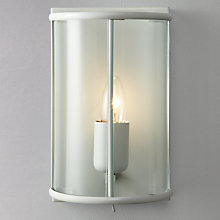 Buy John Lewis Walker Painted Lantern Wall Light, Grey Online at johnlewis.com