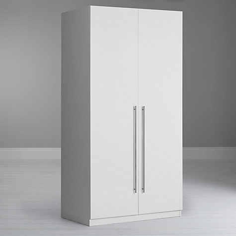 Buy House by John Lewis Mixit T-bar Handle Double Wardrobe, Gloss White/Matt White Online at johnlewis.com