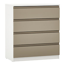 Buy House by John Lewis Mixit Wide 4 Drawer Chest, Matt Stone/White Online at johnlewis.com