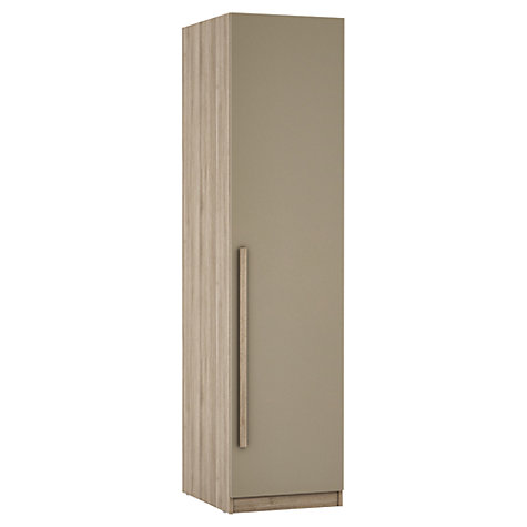 Buy House by John Lewis Mixit Block Handles Single Wardrobe, Matt Stone/Grey Ash Online at johnlewis.com