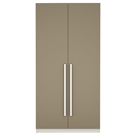 Buy House by John Lewis Mix it Block Handle Double Wardrobe, Matt House Mocha/White Online at johnlewis.com
