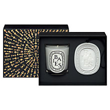 Buy Diptyque Baies Candle And Oval Christmas Gift Set Online at johnlewis.com