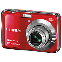 "Buy Fujifilm FinePix AX650 Digital Camera, HD 720p, 16MP, 5x Optical Zoom, 2.7"" LCD Screen, Red Online at johnlewis.com"