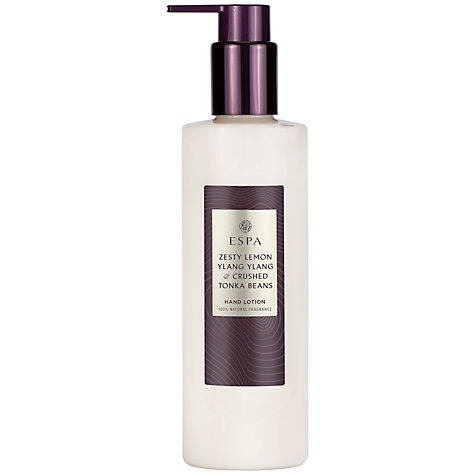 Buy ESPA Lemon And Tonka Bean Hand Lotion, 250ml Online at johnlewis.com