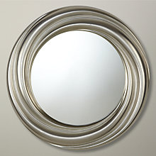Buy John Lewis Salon Swirl Mirror, Gold, Dia.68cm Online at johnlewis.com