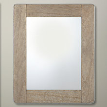 Buy John Lewis Rectangle Metal Edge Mirror, Brown, H45.5 x W55.5cm Online at johnlewis.com