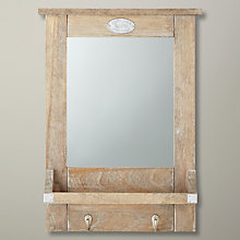 Buy John Lewis Lobby Mirror, Brown, H52 x W35cm Online at johnlewis.com