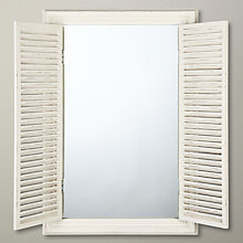 Buy John Lewis Shutter Mirror, White, H95 x W64 Online at johnlewis.com