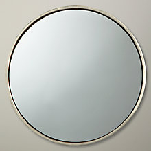 Buy John Lewis Metal Round Mirror, Dia.26cm Online at johnlewis.com