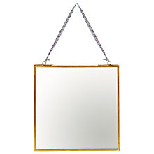 Buy Nkuku Kiko Mirror, Brass, 20 x 20cm Online at johnlewis.com