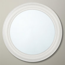 Buy John Lewis Bead Round Mirror, Dia.76cm, White Online at johnlewis.com