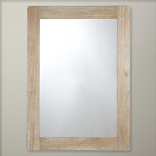 Buy John Lewis Rectangle Metal Edge Mirror, Brown, H105 x W55.5cm Online at johnlewis.com