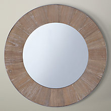 Buy John Lewis Metal Edge Mirror, Brown, Dia. 60cm Online at johnlewis.com