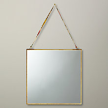 Buy Nkuku Kiko Mirror, Brass, 30 x 30cm Online at johnlewis.com